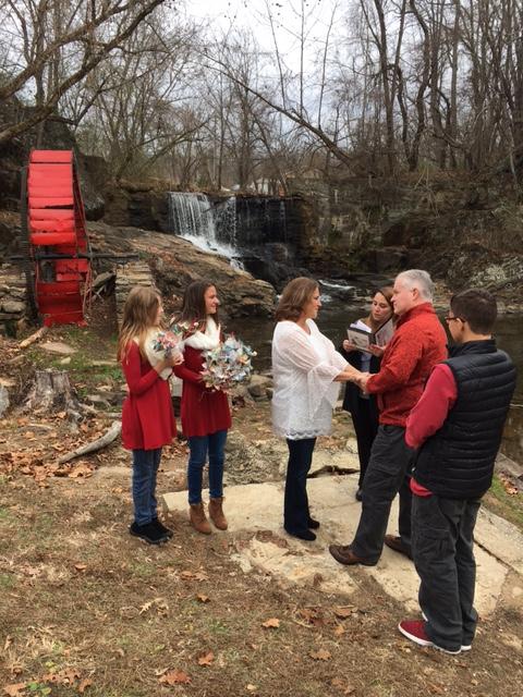Wedding with Waterfall